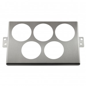 MK2/NB 2DIN Control Panel with 5x52mm Gauge Cut Outs