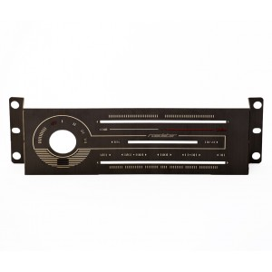 Labeled Black Brushed Stainless Heater Panel (HVAC)