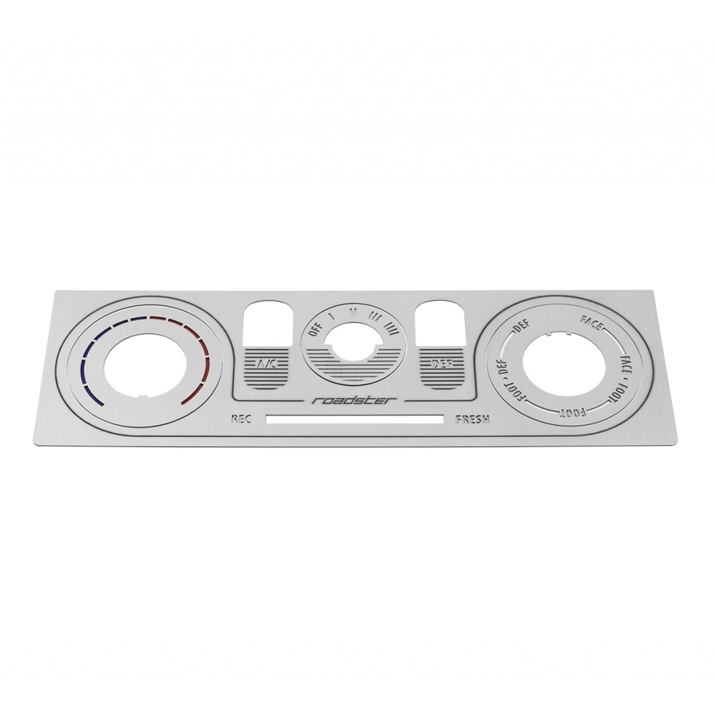 MK2/NB Labeled Brushed Stainless Heater Panel (HVAC)
