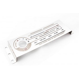 Labeled Brushed Stainless Heater Panel (HVAC), Backlight Colour Options