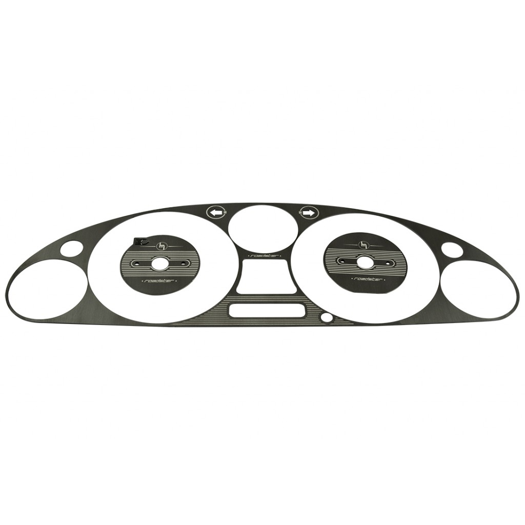 Engraved Instrument Cluster Bezel, Black Brushed Stainless Steel, NB/MK2