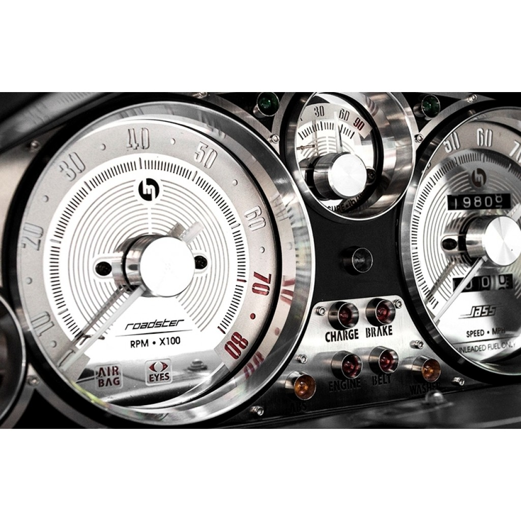 Deep Stype Gauge Rings, Billet Aluminium