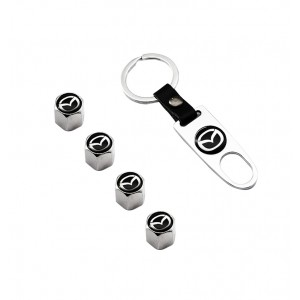 Mazda Tire Valve Caps With Keyholder